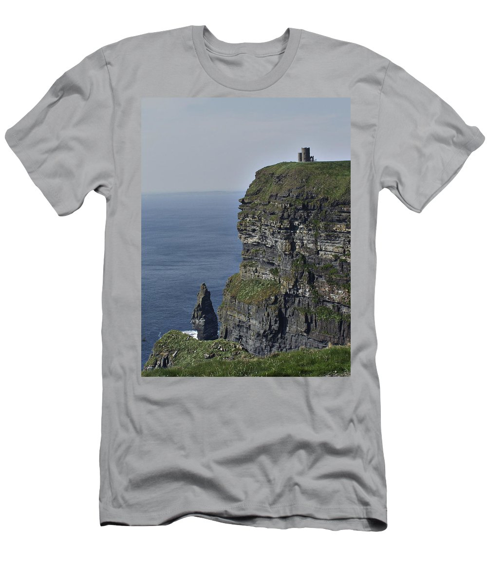 Irish T-Shirt featuring the photograph O Brien's Tower at the Cliffs of Moher Ireland by Teresa Mucha