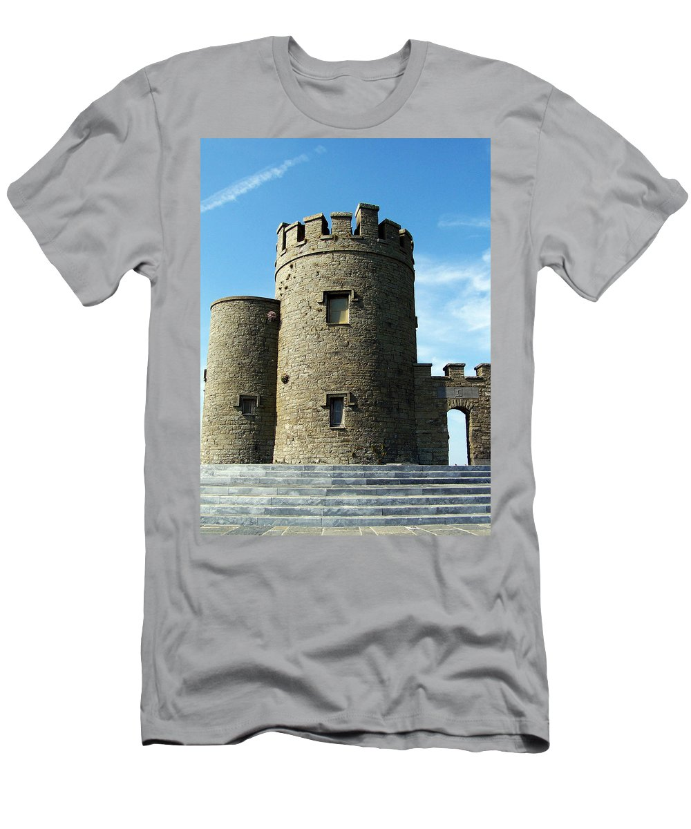 Irish Men's T-Shirt (Athletic Fit) featuring the photograph O Brien's Tower Cliffs Of Moher Ireland by Teresa Mucha