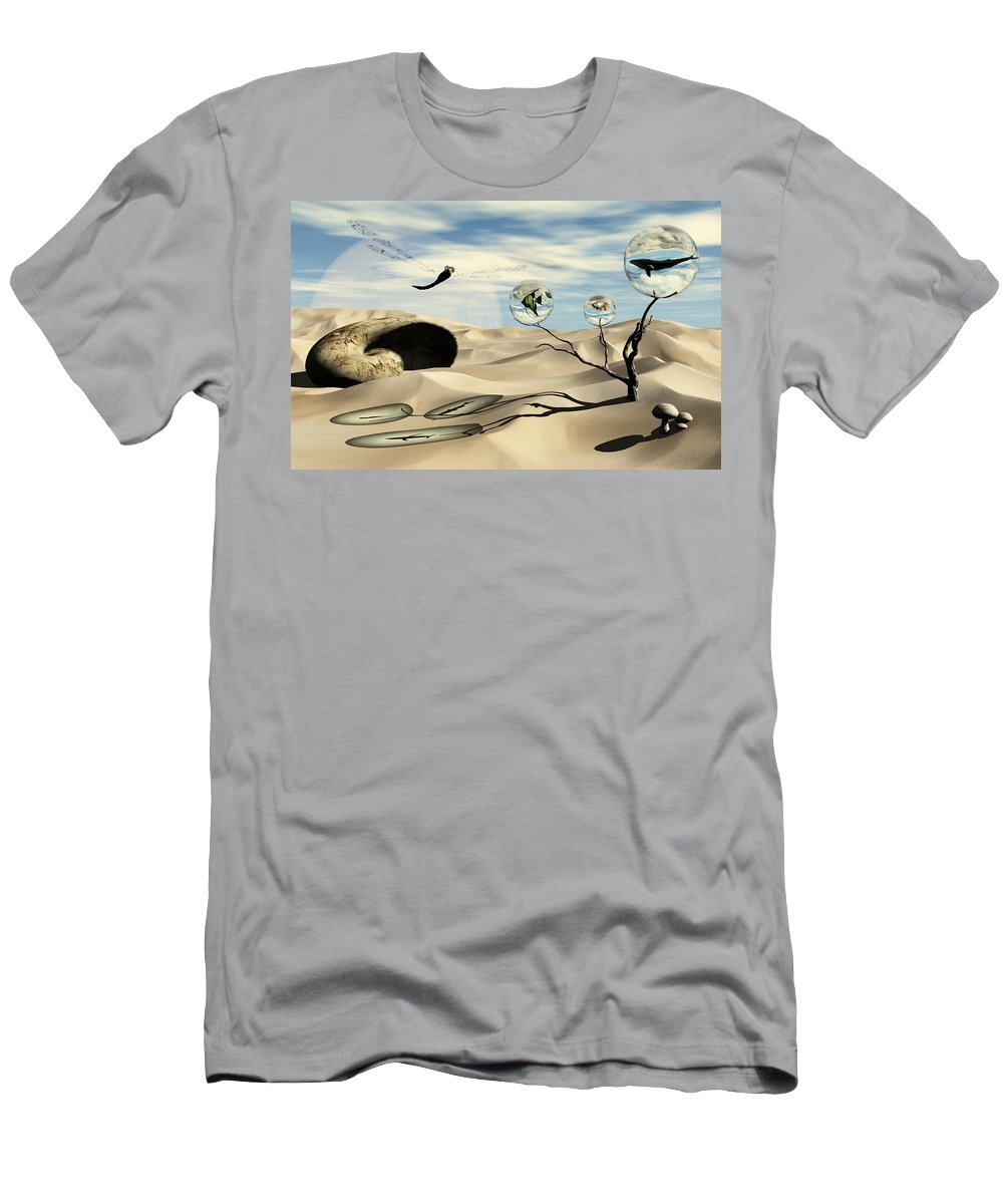 Surrealism Men's T-Shirt (Athletic Fit) featuring the digital art Observations by Richard Rizzo