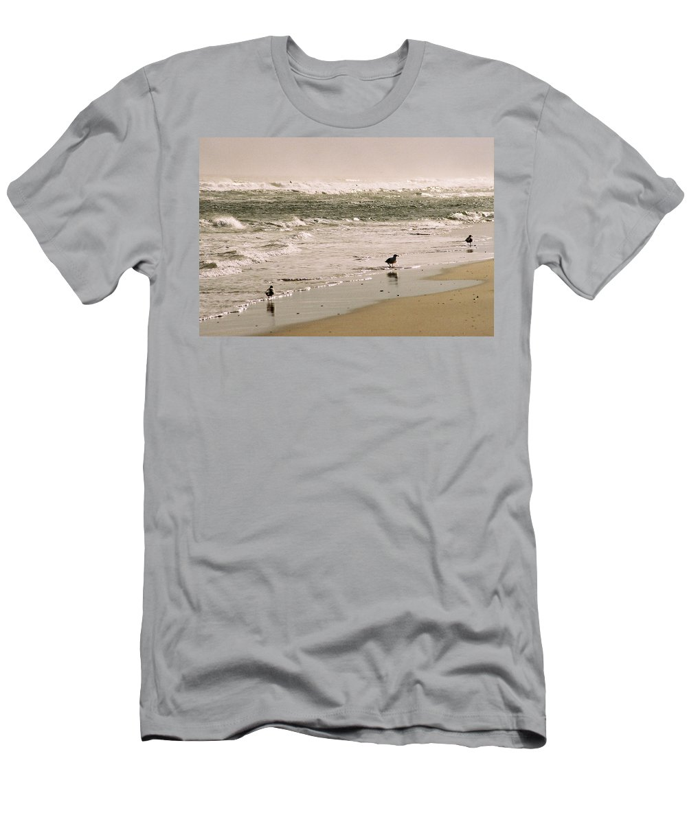 Seascape Men's T-Shirt (Athletic Fit) featuring the photograph Ocean Edge by Steve Karol