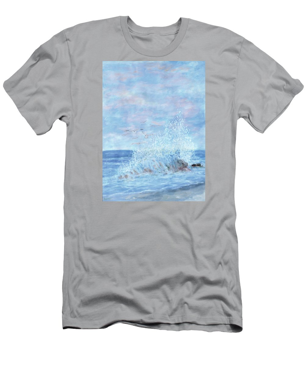 Gulls T-Shirt featuring the painting Ocean Spray by Ben Kiger