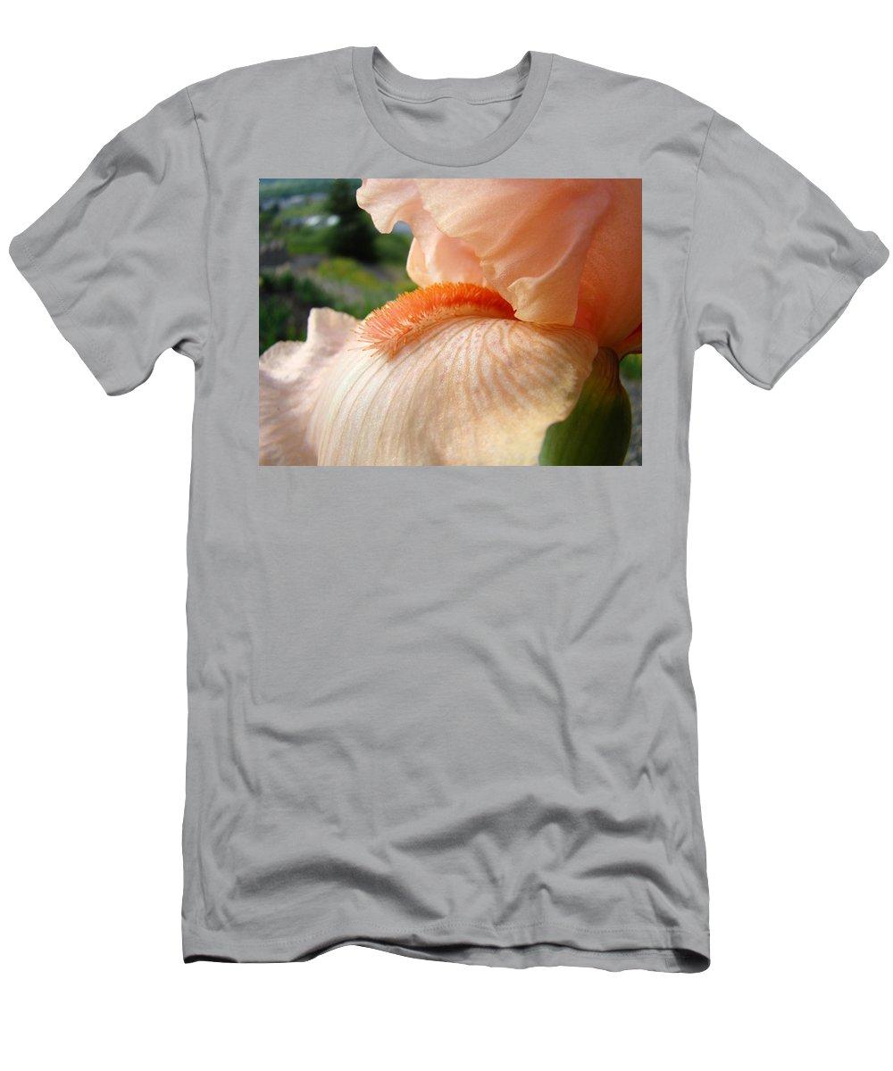 Office Art Prints T-Shirt featuring the photograph OFFICE ART Irises Orange Iris Flowers 9 Giclee Prints Corporate Art Baslee Troutman by Patti Baslee