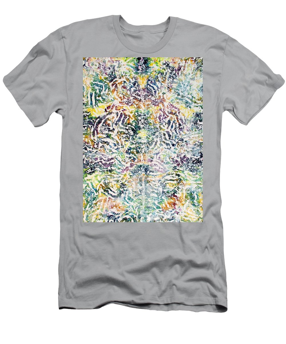Colorful Men's T-Shirt (Athletic Fit) featuring the painting 20-offspring While I Was On The Path To Perfection 20 by Parijoy Swami Tapasyananda