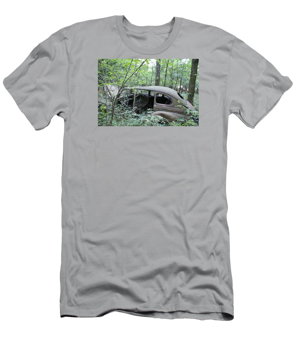 Abandoned Car T-Shirt featuring the photograph Old abandoned car by Toni Berry