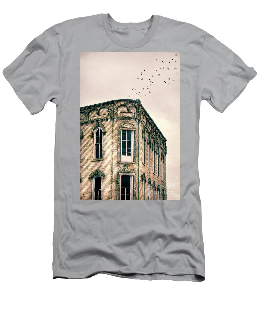 Brick Men's T-Shirt (Athletic Fit) featuring the photograph Old Building by Jill Battaglia