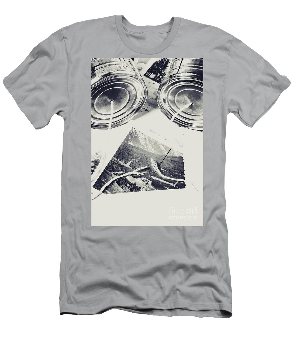 Disconnected Men's T-Shirt (Athletic Fit) featuring the photograph Old Line Of Failure by Jorgo Photography - Wall Art Gallery