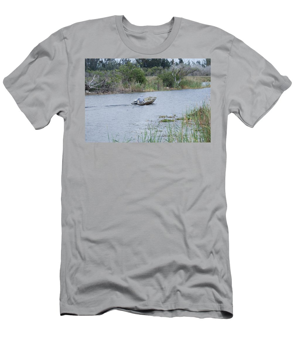 River Men's T-Shirt (Athletic Fit) featuring the photograph Old Man River by Rob Hans