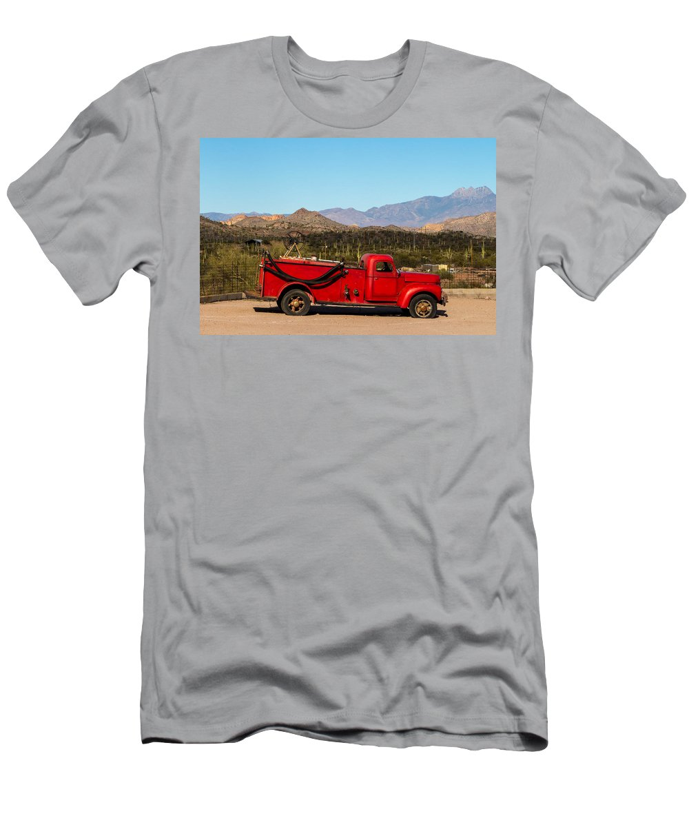 Red Men's T-Shirt (Athletic Fit) featuring the photograph Old Red by Brigitte Mueller