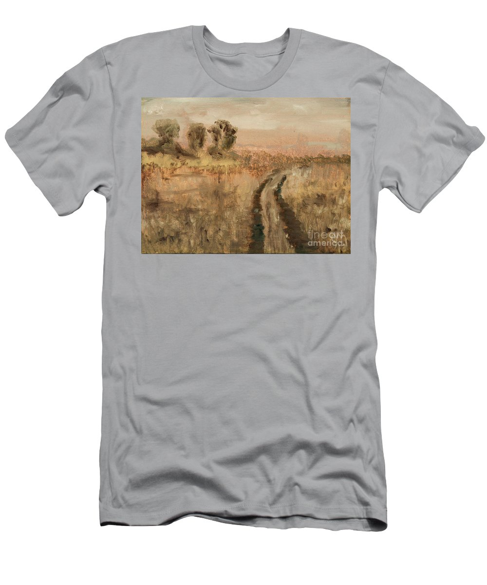 Dirt Road Men's T-Shirt (Athletic Fit) featuring the painting Old Road by Jodi Monahan