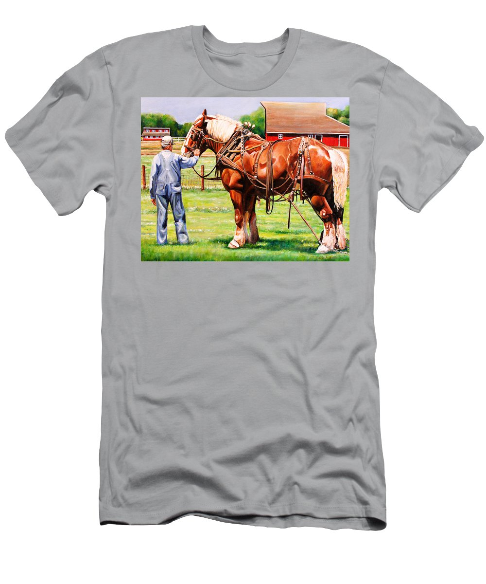 Belgian Men's T-Shirt (Athletic Fit) featuring the painting Old Timers by Toni Grote