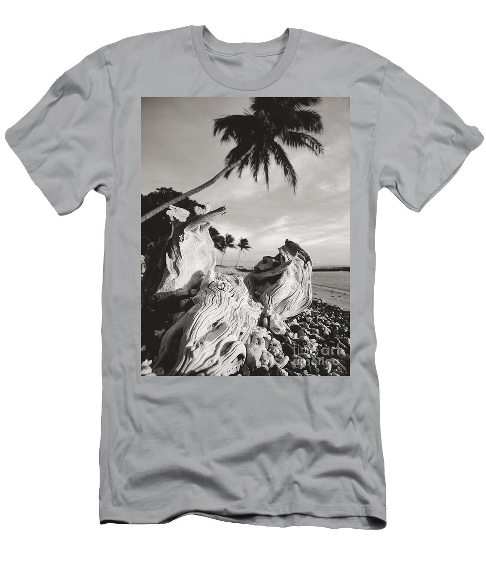 Afternoon Men's T-Shirt (Athletic Fit) featuring the photograph Olowalu Driftwood by Ron Dahlquist - Printscapes