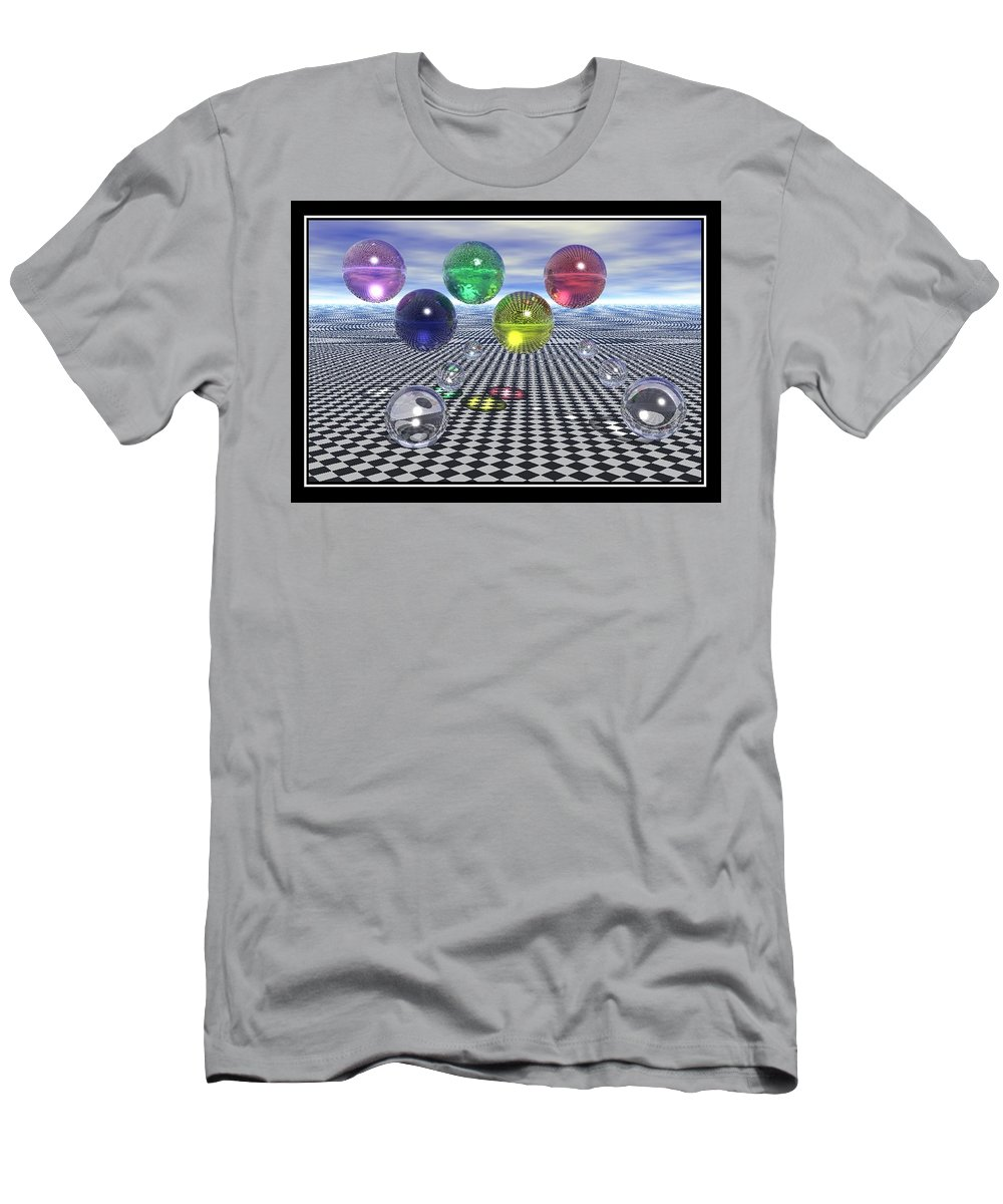 Olympic Dreams Surreal Art Men's T-Shirt (Athletic Fit) featuring the digital art Olympic Dreams by William Ballester