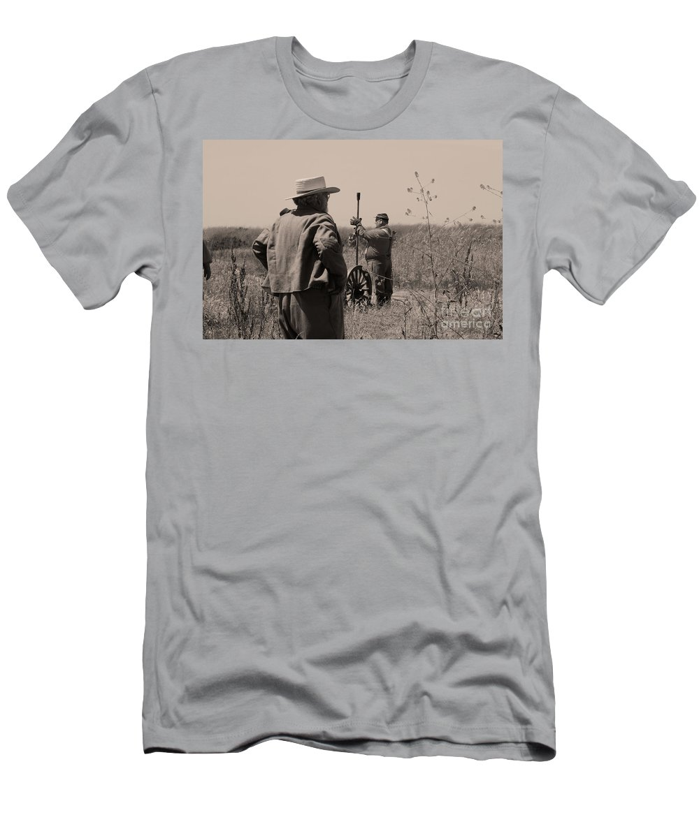 Civil War Men's T-Shirt (Athletic Fit) featuring the photograph On The Field by Tommy Anderson