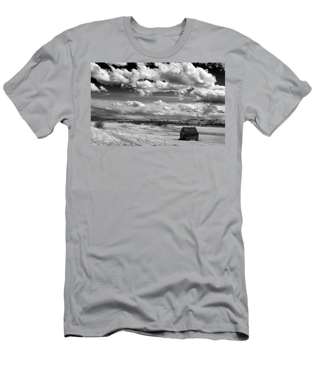 Prairie Men's T-Shirt (Athletic Fit) featuring the photograph On The Prairie by Bob Mintie