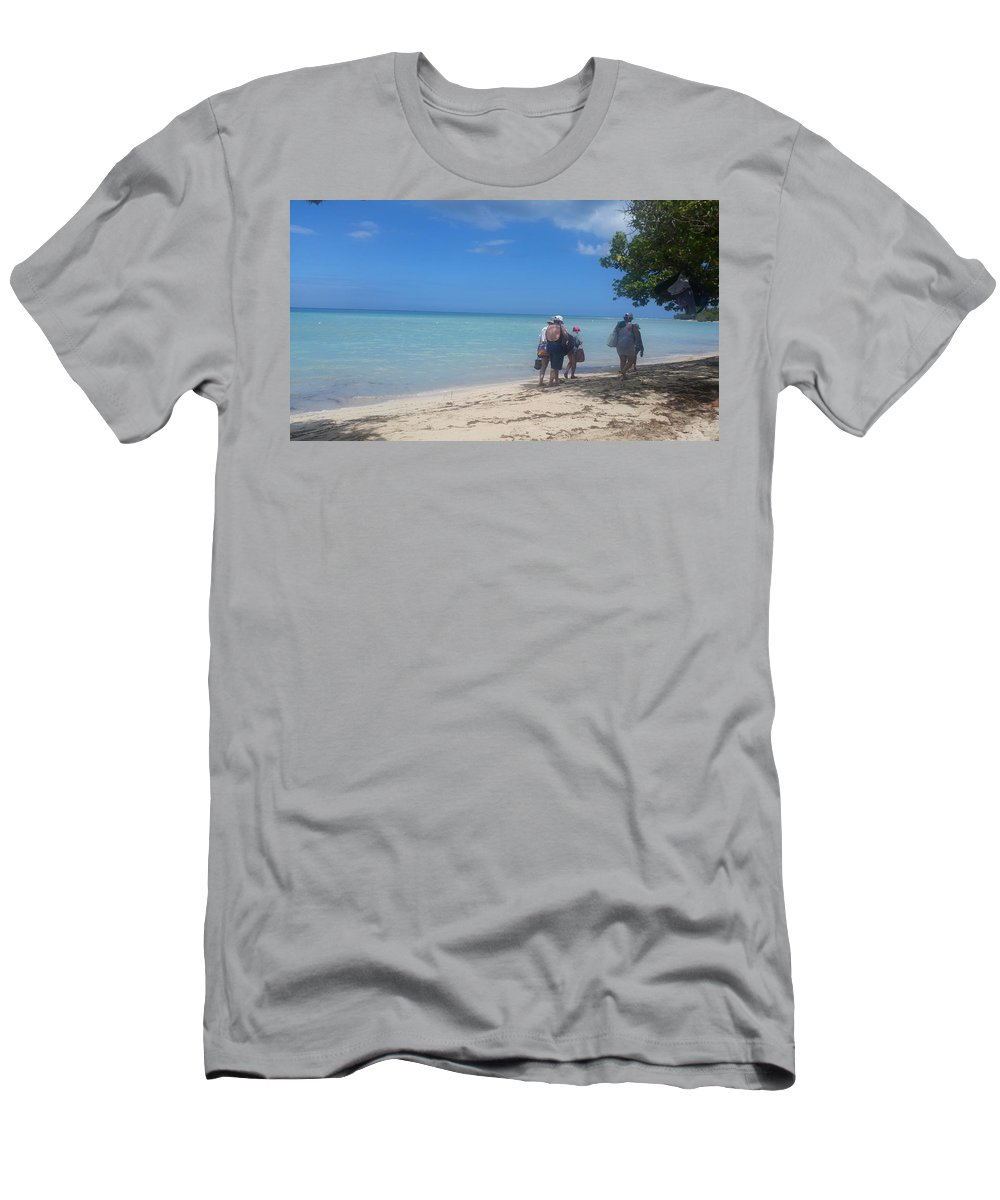 Tourist Men's T-Shirt (Athletic Fit) featuring the photograph On Their Way by Jeannette Cruz