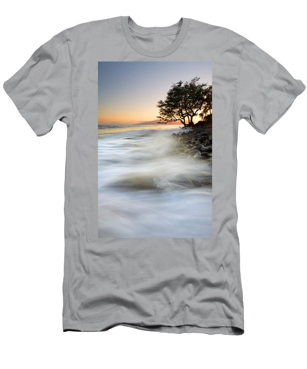 Sunset Men's T-Shirt (Athletic Fit) featuring the photograph One Against The Tides by Mike Dawson