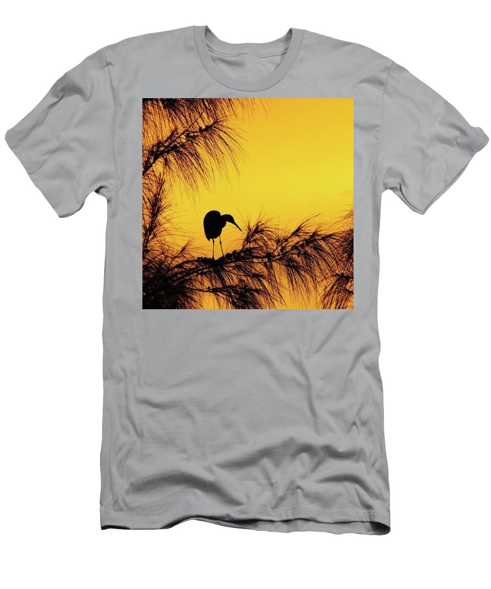 Egret T-Shirt featuring the photograph One Of A Series Taken At Mahoe Bay by John Edwards