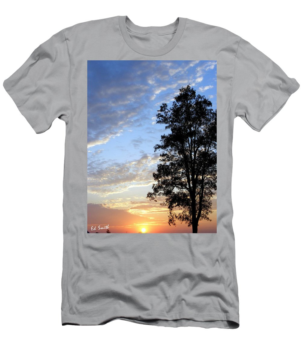 One Tall Order Men's T-Shirt (Athletic Fit) featuring the photograph One Tall Order by Edward Smith