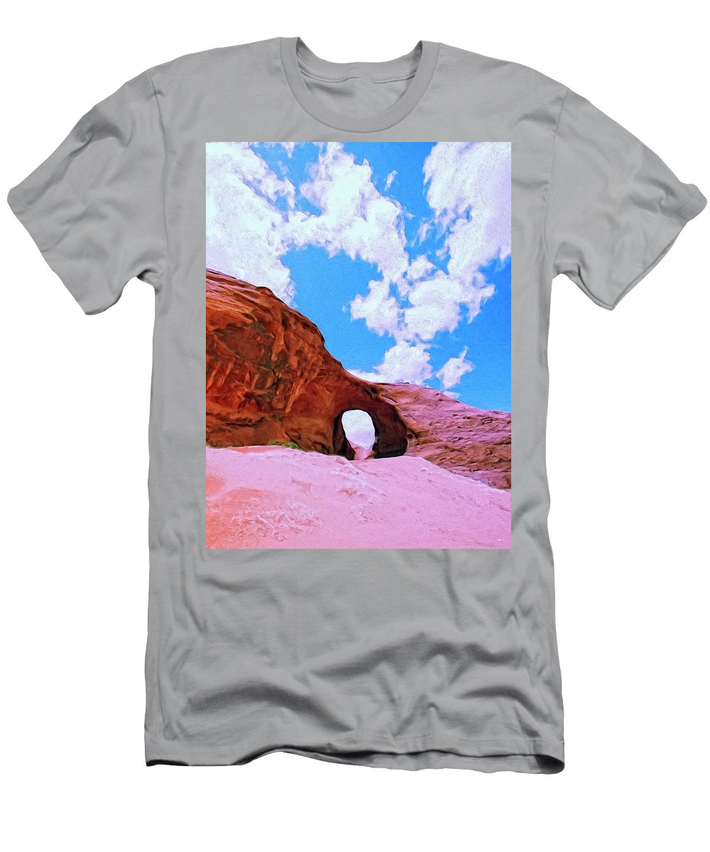 Onward Men's T-Shirt (Athletic Fit) featuring the painting Onward by Dominic Piperata