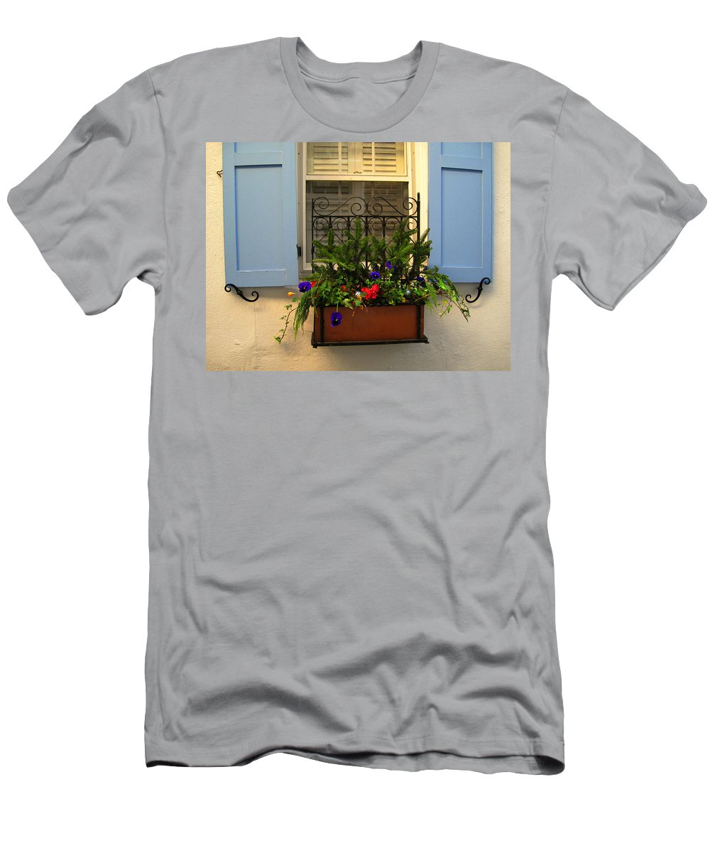 Window Men's T-Shirt (Athletic Fit) featuring the photograph Open The Window by Susanne Van Hulst