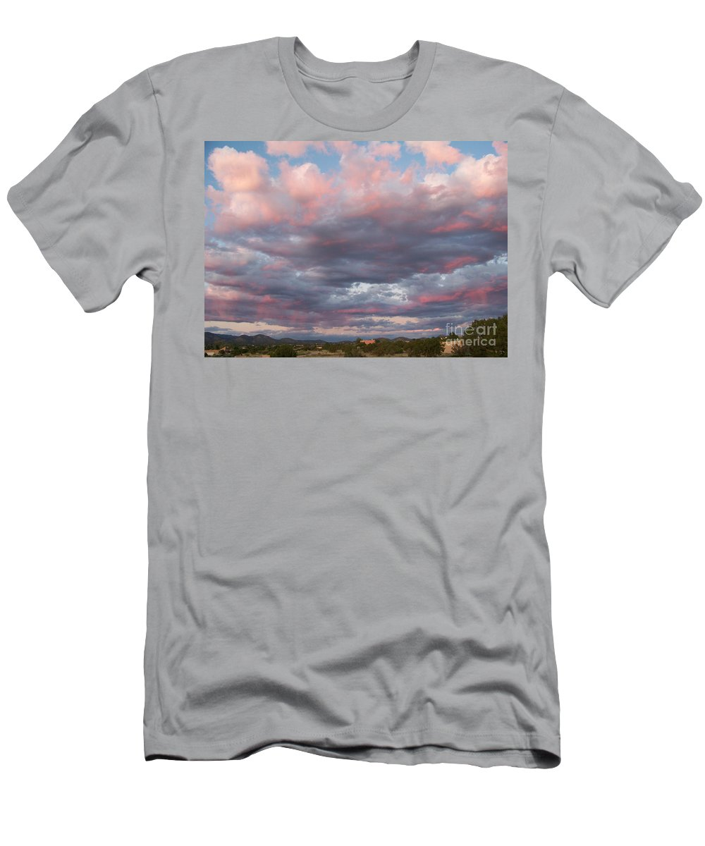 Sunset Men's T-Shirt (Athletic Fit) featuring the photograph Opposite The Setting Sun by Brian Commerford