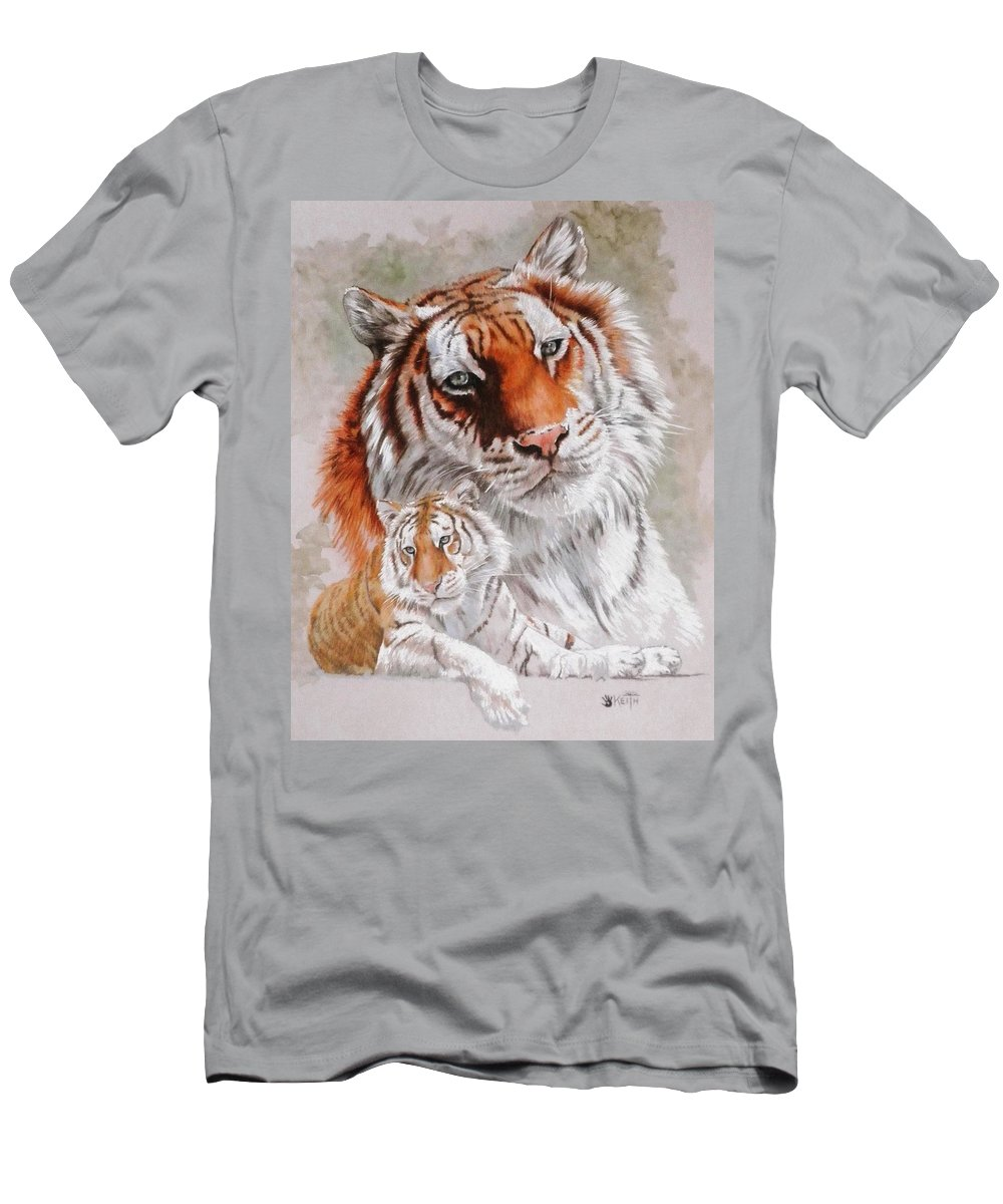 Wildcat T-Shirt featuring the mixed media Opulent by Barbara Keith
