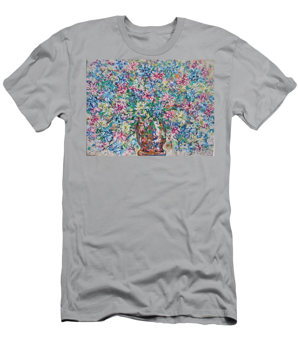 Painting Men's T-Shirt (Athletic Fit) featuring the painting Opulent Bouquet. by Leonard Holland