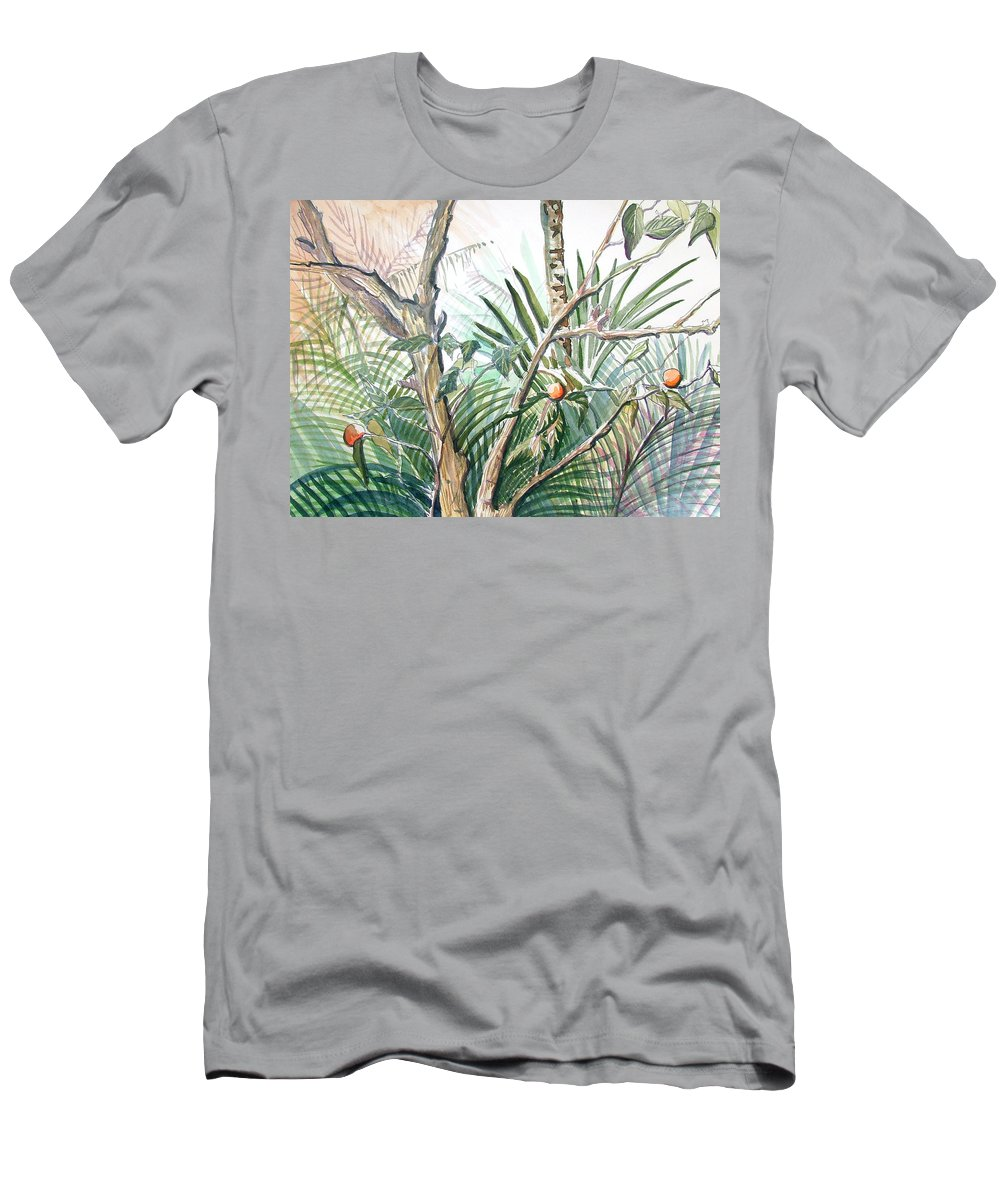Fruit Men's T-Shirt (Athletic Fit) featuring the painting Orange Tree by Mindy Newman
