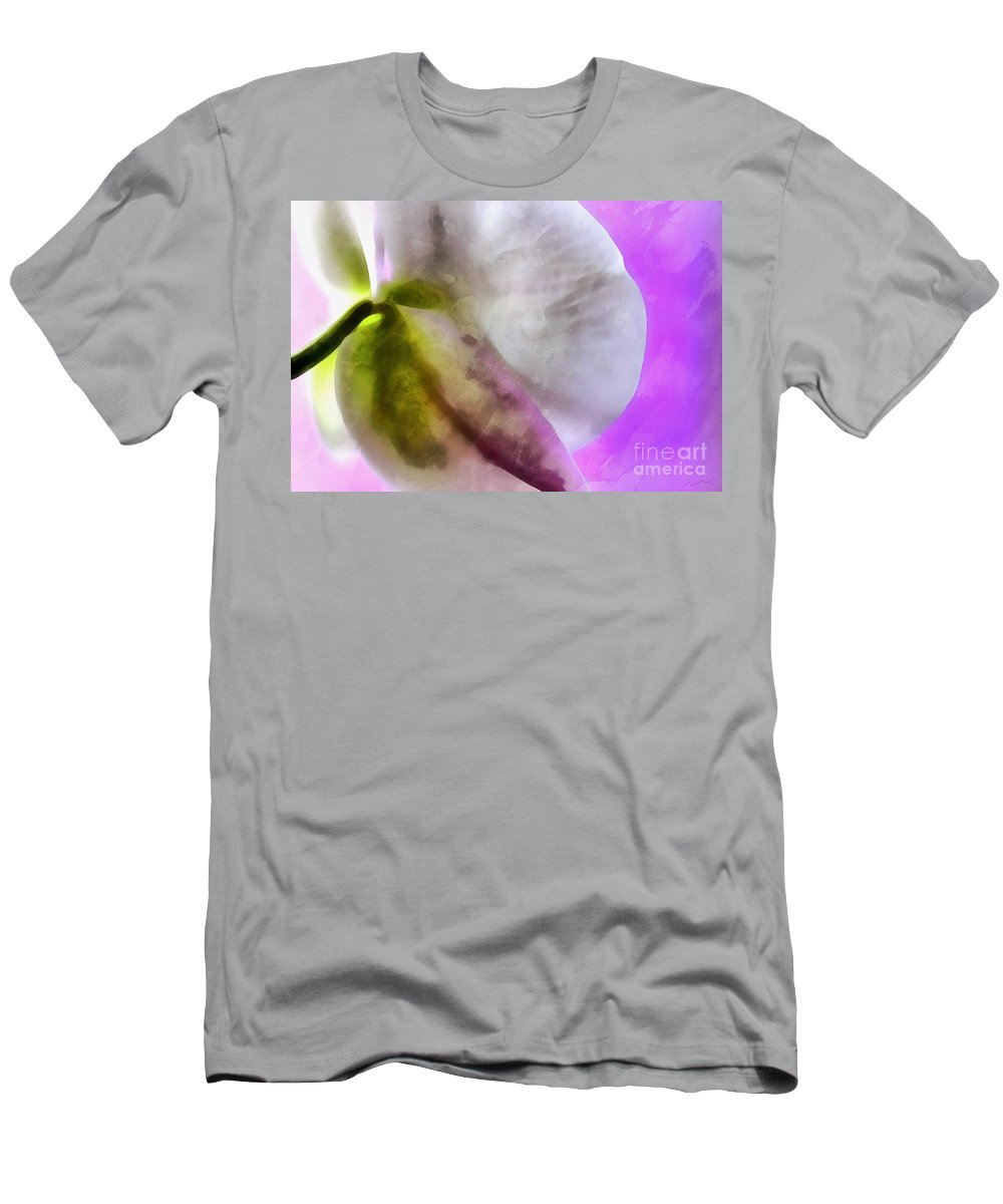 Orchid Men's T-Shirt (Athletic Fit) featuring the photograph Orchid Of Inspiration by Krissy Katsimbras