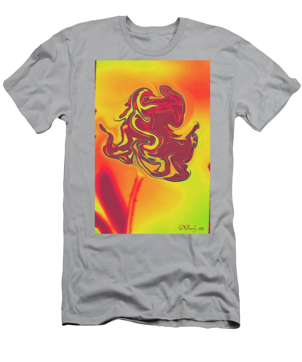 Rose Men's T-Shirt (Athletic Fit) featuring the photograph Organic Rose by Donna Bentley