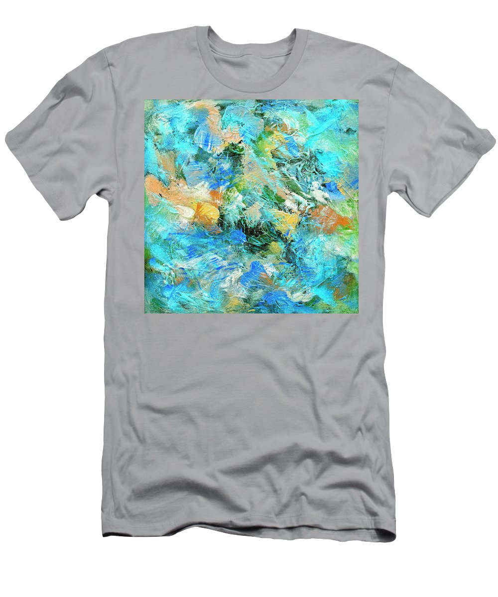 Abstract Men's T-Shirt (Athletic Fit) featuring the painting Orinoco by Dominic Piperata
