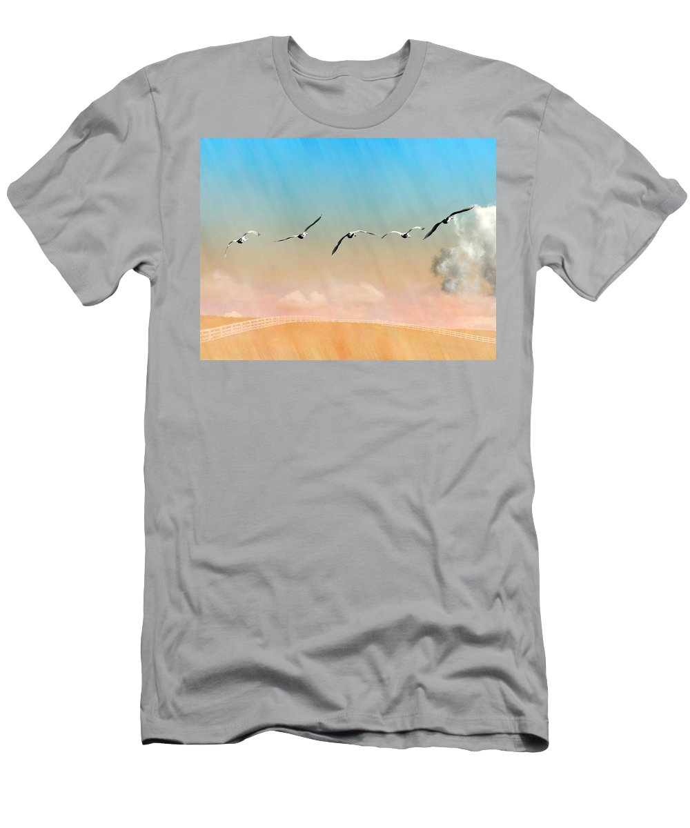 Swans Men's T-Shirt (Athletic Fit) featuring the photograph Orton-rose Five by Ed Hall