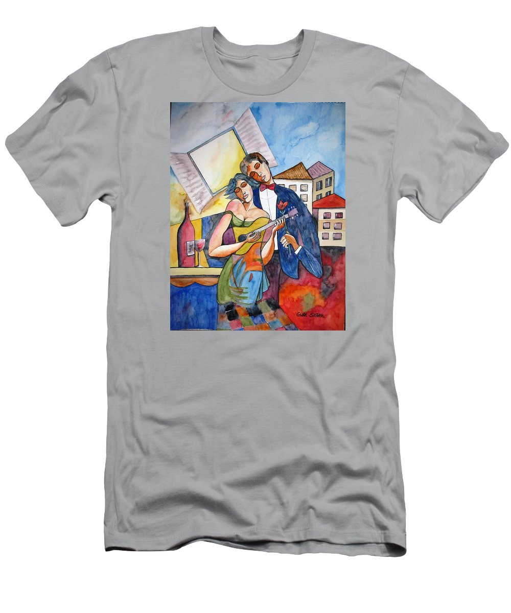 Music Men's T-Shirt (Athletic Fit) featuring the painting Our Dream by Guri Stark