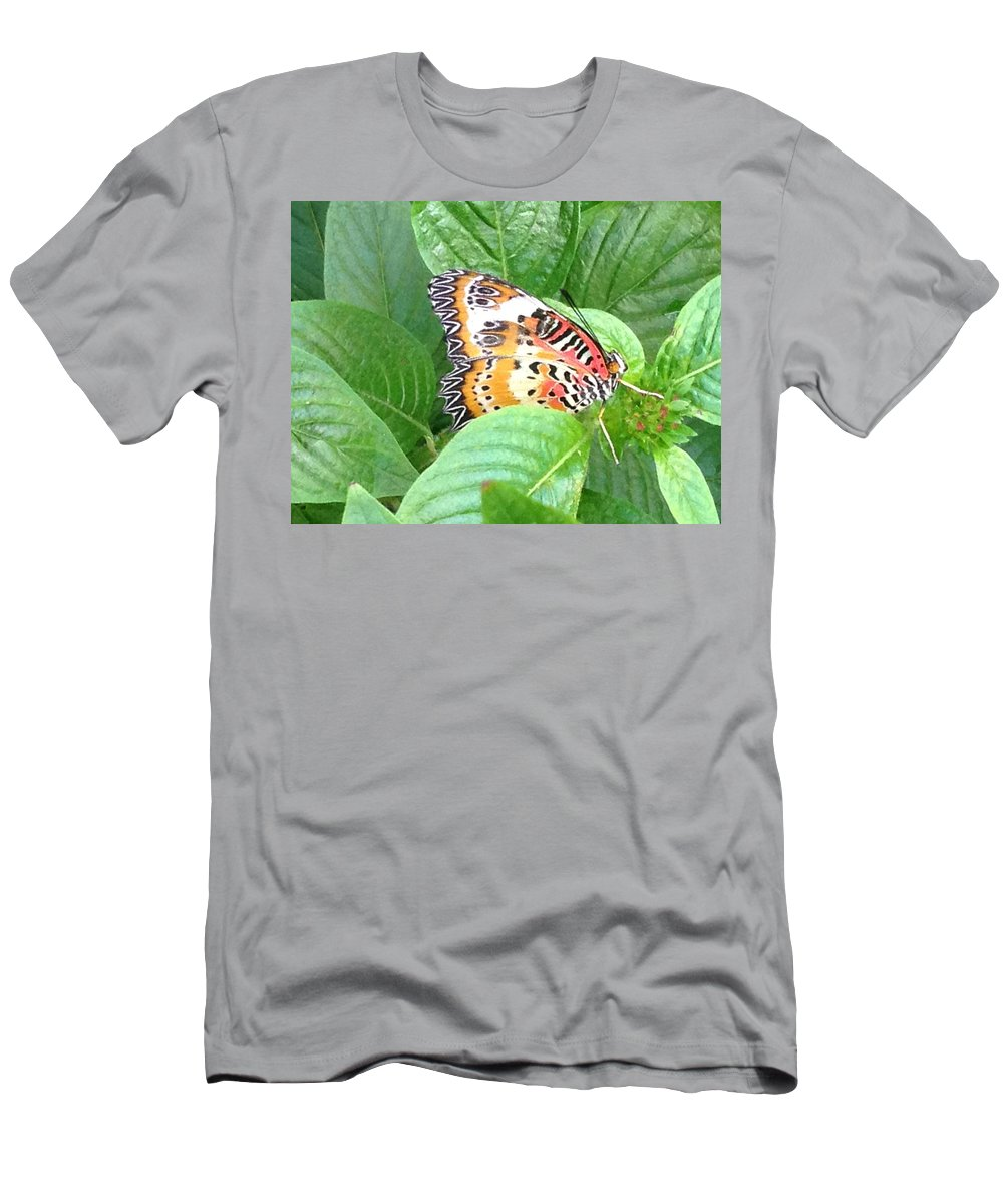 Nature Men's T-Shirt (Athletic Fit) featuring the photograph Out Of Hiding by Darren Rudd