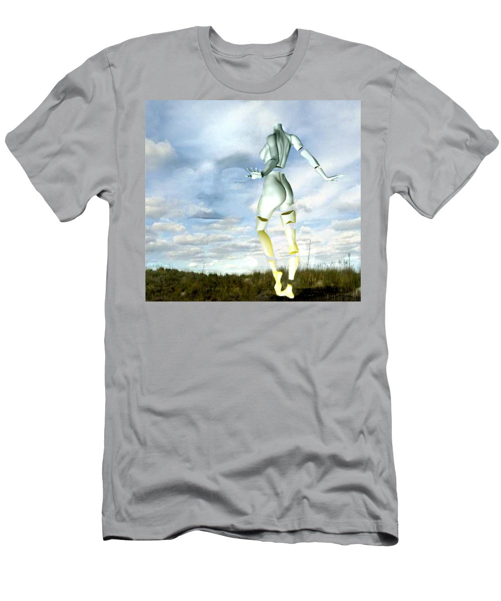 Sky Naked Woman Surreal Dance Men's T-Shirt (Athletic Fit) featuring the digital art Out Of My Mind... by Veronica Jackson