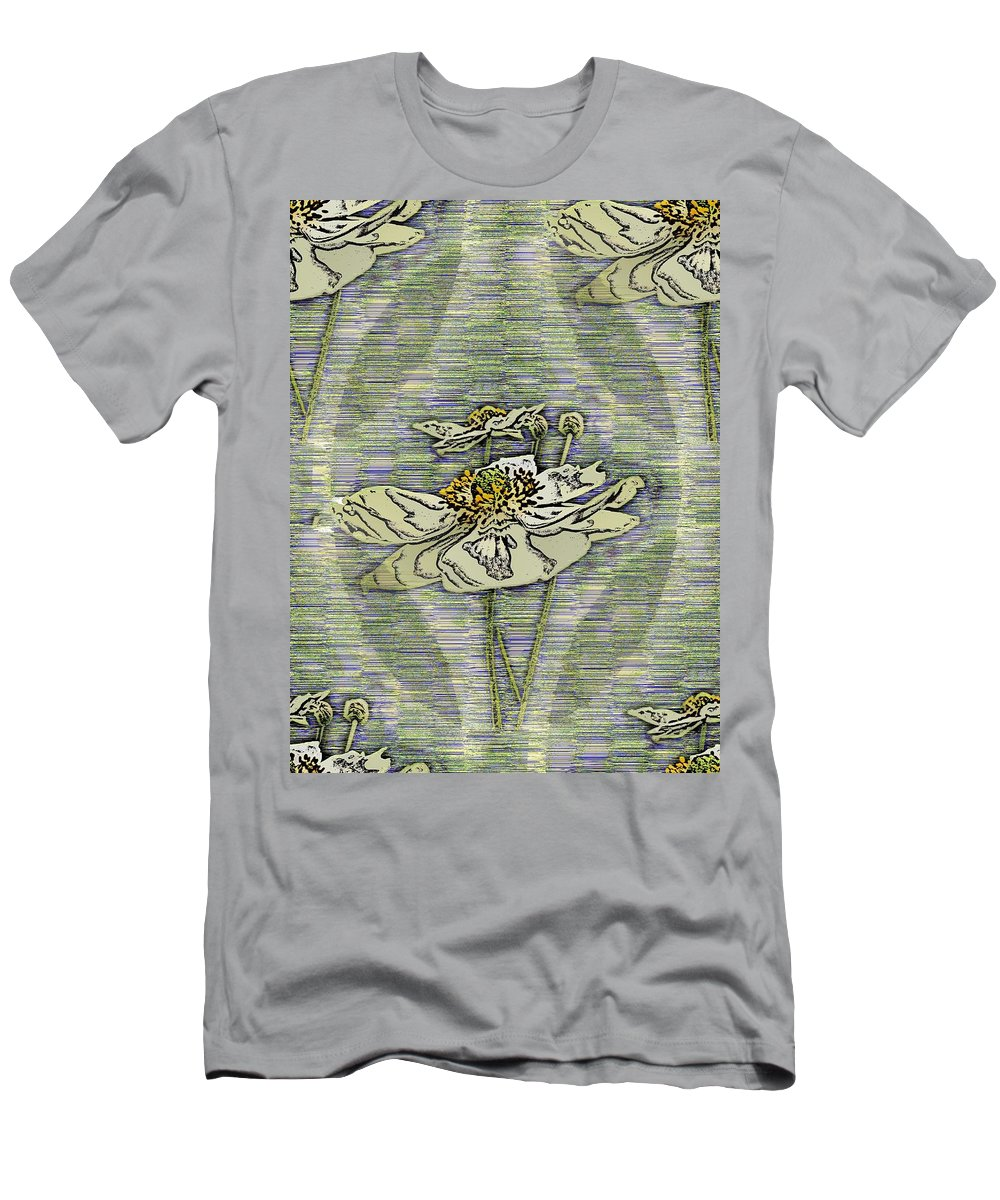 Abstract Men's T-Shirt (Athletic Fit) featuring the digital art Out Of The Mist 2 by Tim Allen