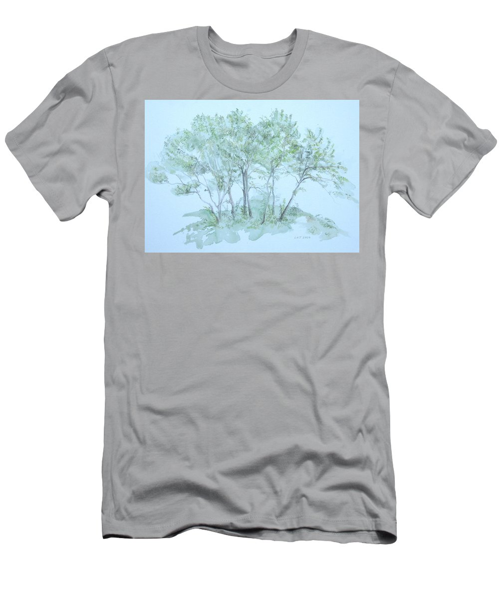 Trees T-Shirt featuring the painting Outer Banks by Leah Tomaino