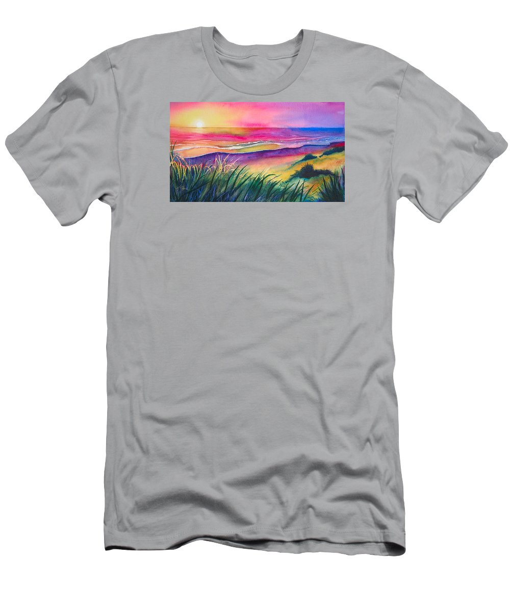 Pacific T-Shirt featuring the painting Pacific Evening by Karen Stark