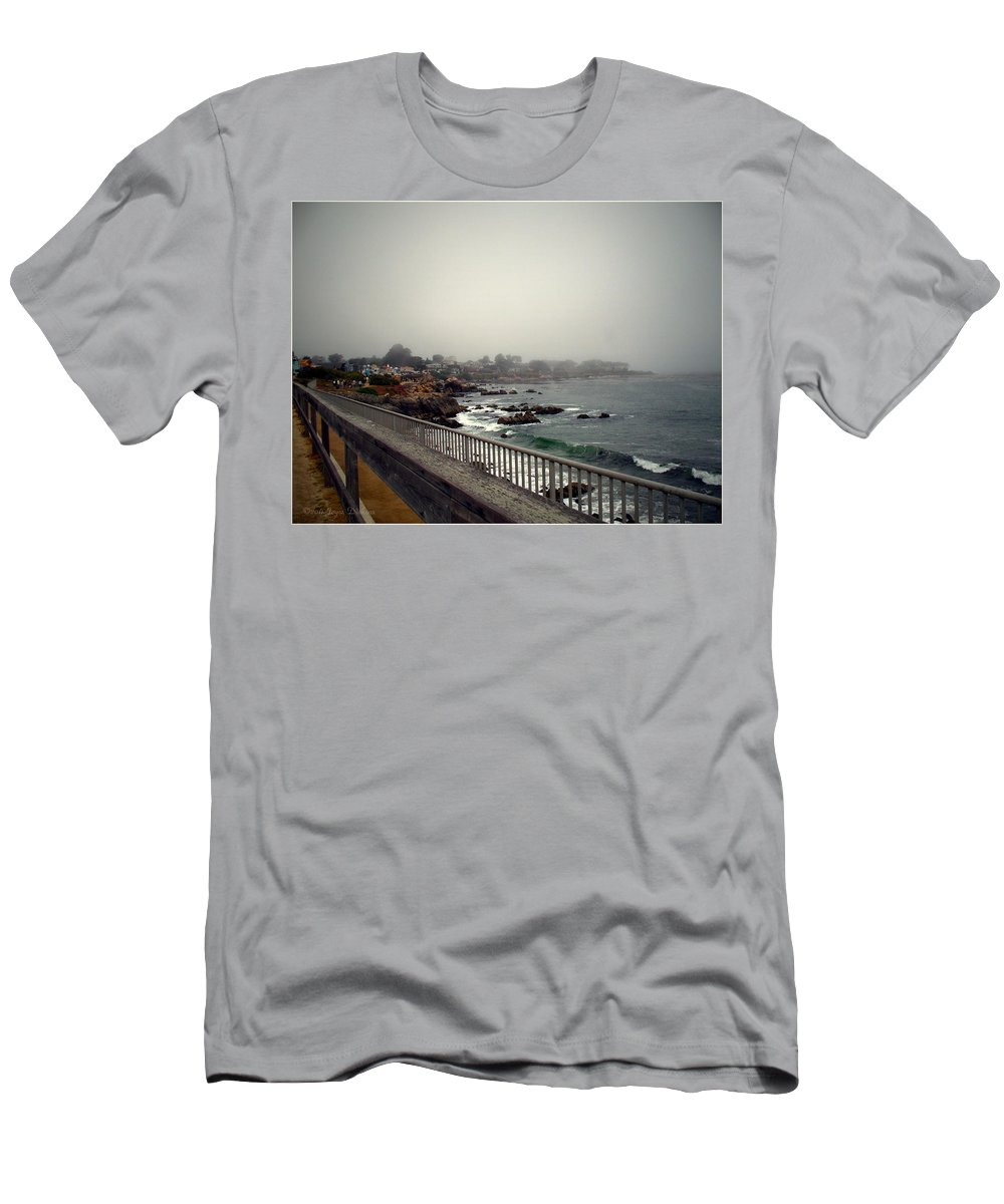 Pacific Grove Men's T-Shirt (Athletic Fit) featuring the photograph Pacific Grove California Usa by Joyce Dickens