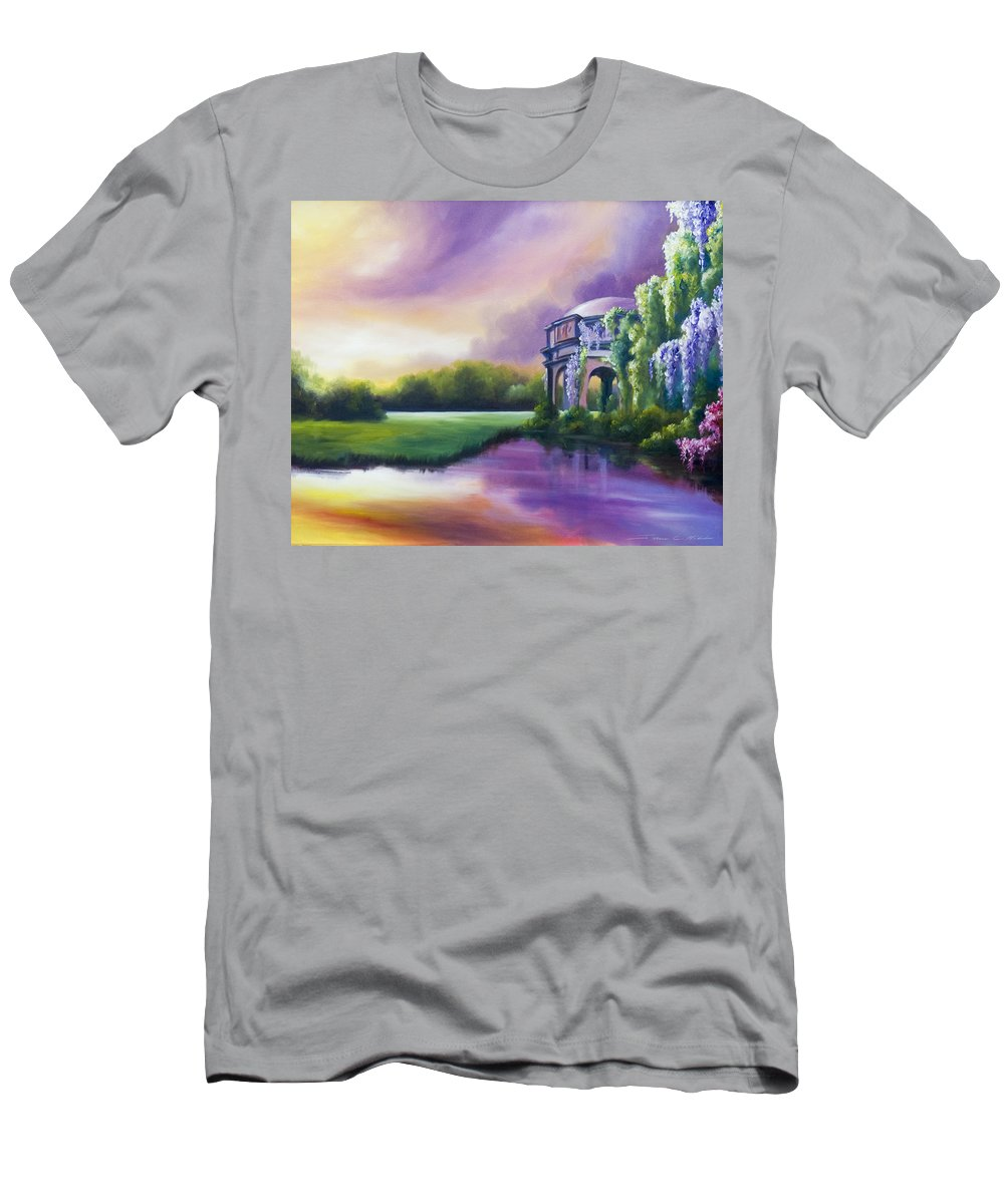 Marsh T-Shirt featuring the painting Palace Of The Arts by James Christopher Hill