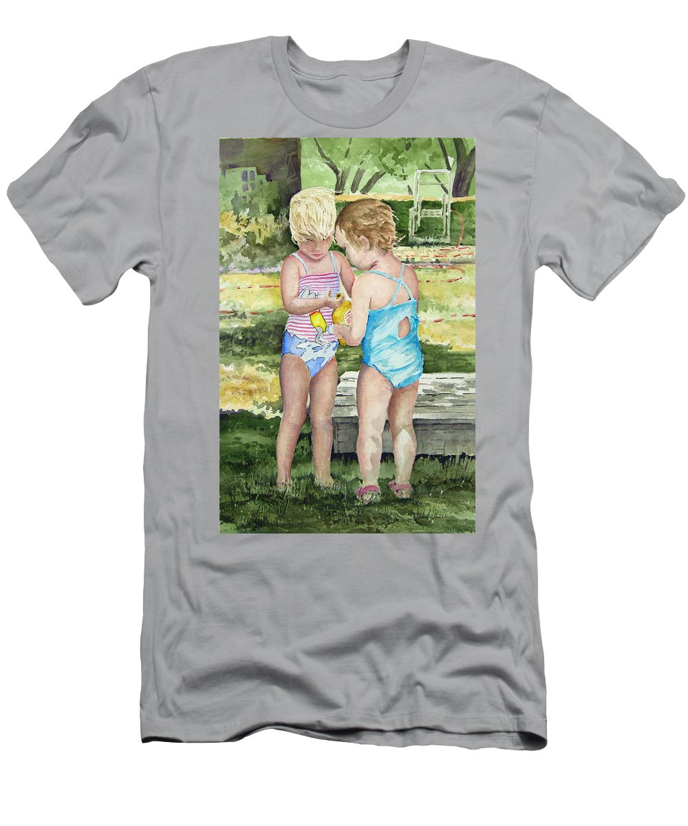 Children T-Shirt featuring the painting Pals Share by Sam Sidders