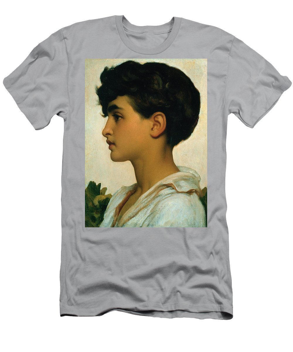 Paolo Men's T-Shirt (Athletic Fit) featuring the painting Paolo by Frederic Leighton