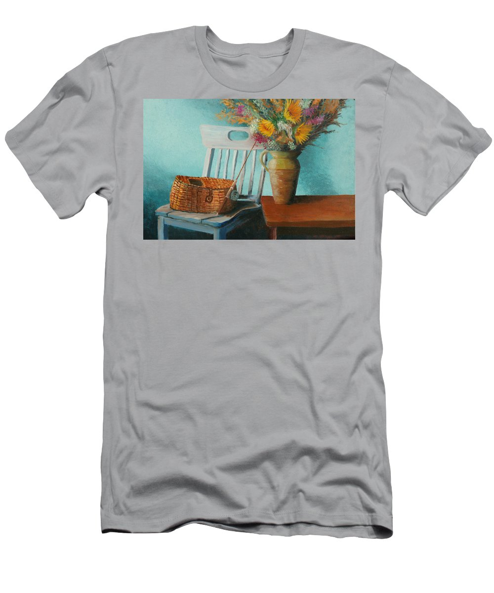 Floral Men's T-Shirt (Athletic Fit) featuring the painting Papa's Pole by Jerry McElroy