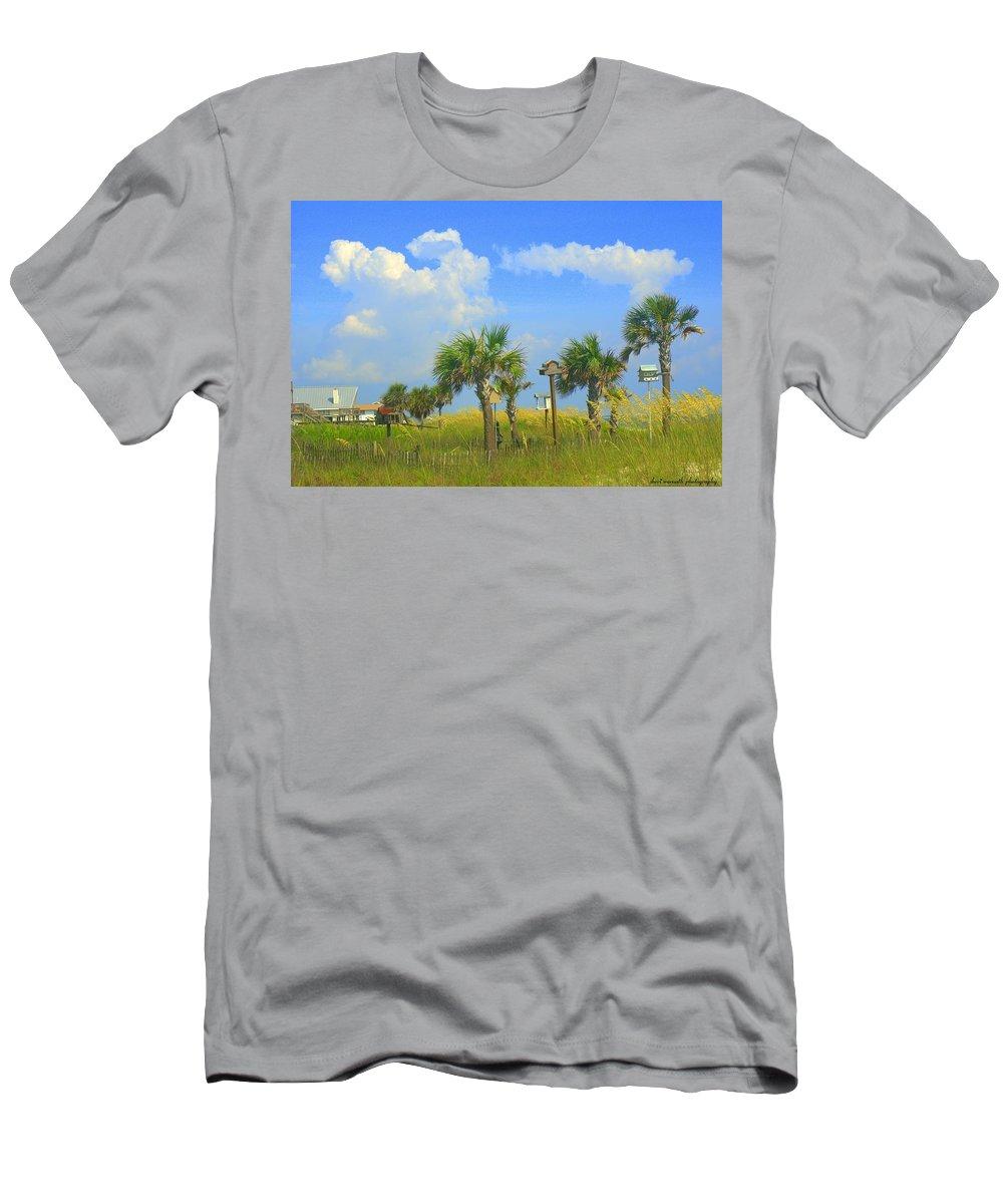 Beach Men's T-Shirt (Athletic Fit) featuring the photograph Paradise by Sheri Bartoszek