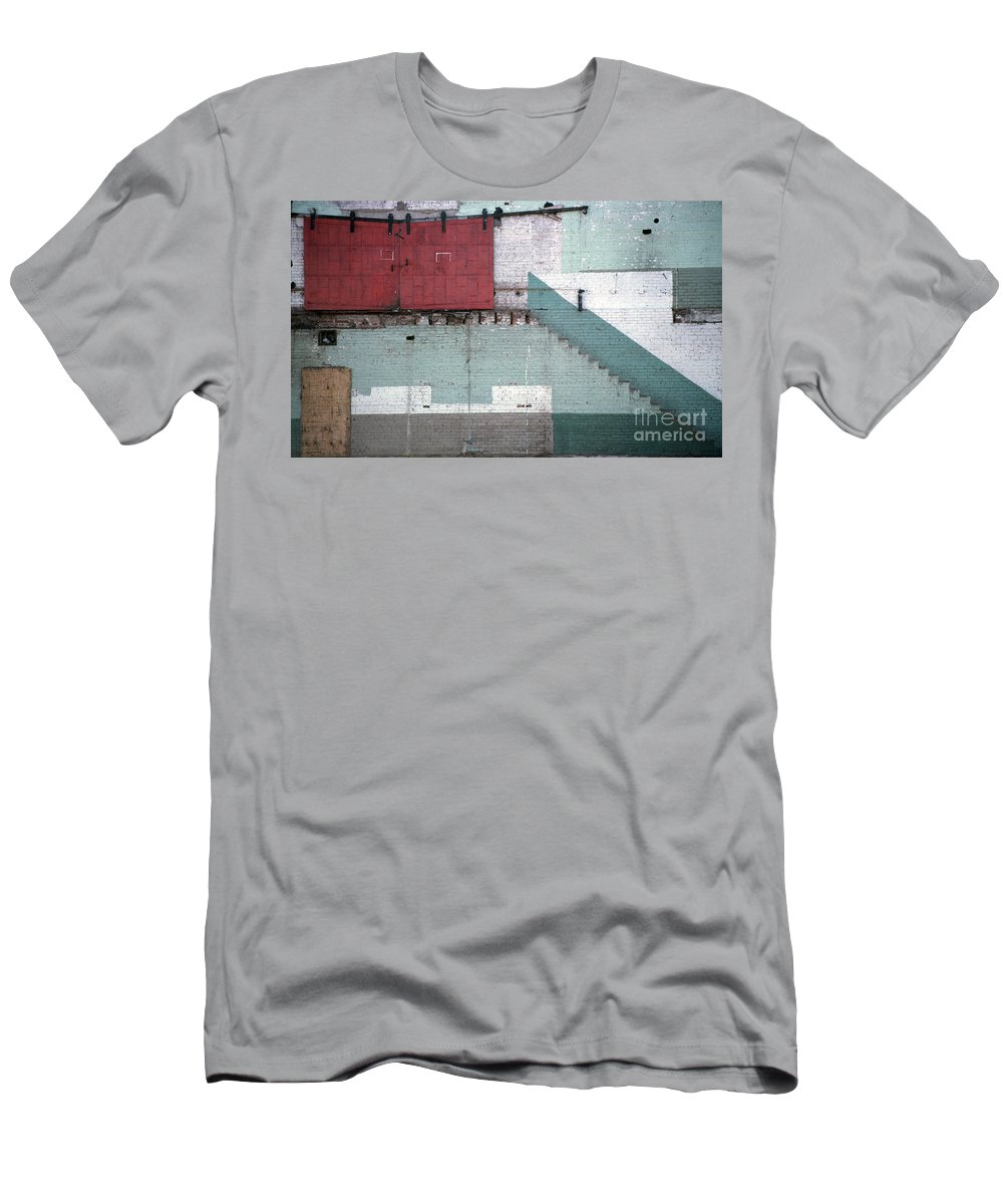 Abstract Men's T-Shirt (Athletic Fit) featuring the photograph Partial Demolition by Richard Rizzo