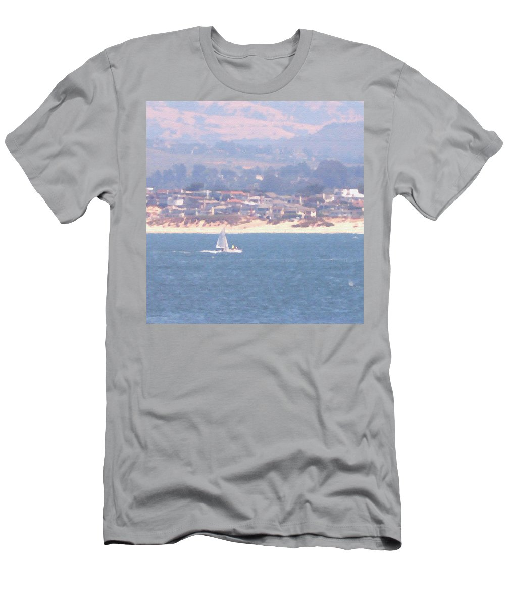 Sailing T-Shirt featuring the photograph Pastel Sail by Pharris Art