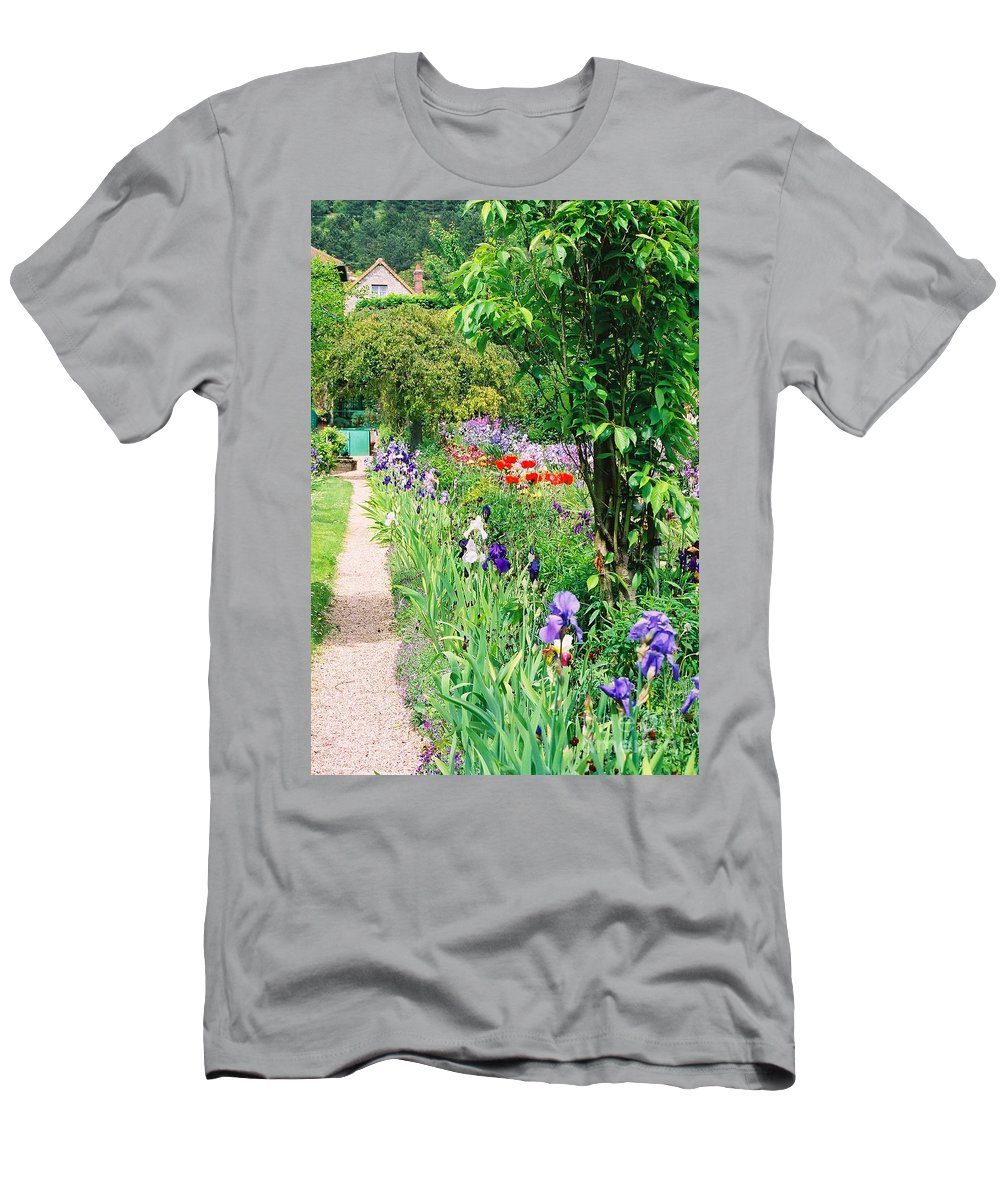 Claude Monet Men's T-Shirt (Athletic Fit) featuring the photograph Path To Monet's House by Nadine Rippelmeyer