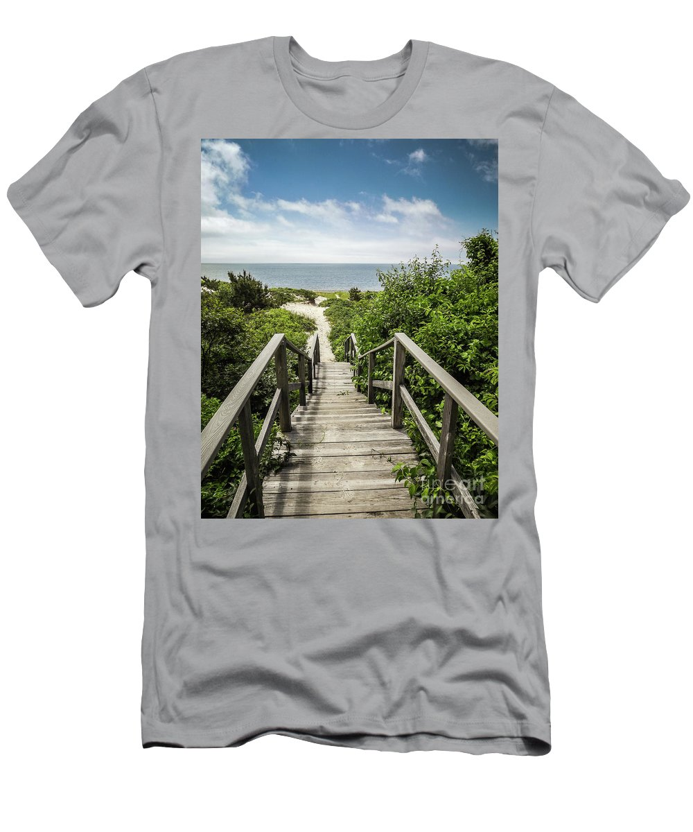 Cape Cod Men's T-Shirt (Athletic Fit) featuring the photograph Path To The Beach by Robert Anastasi