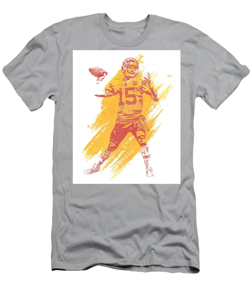 Wholesale Patrick Mahomes Kansas City Chiefs Water Color Art 1 T Shirt for