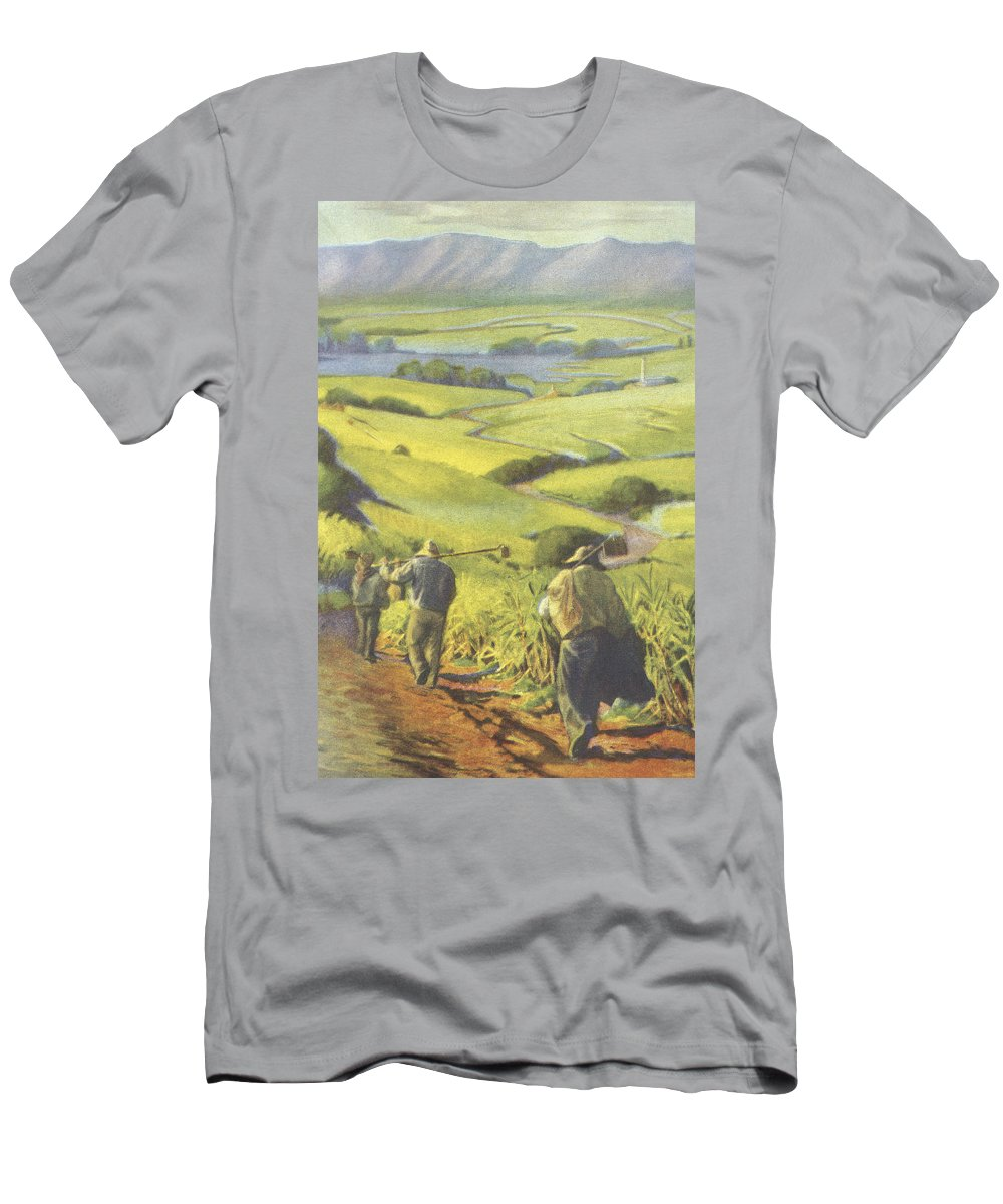 1935 Men's T-Shirt (Athletic Fit) featuring the painting Pau Kanaka Work by Hawaiian Legacy Archive - Printscapes